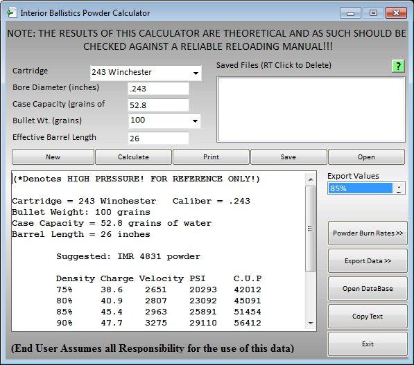 Ballistic Basics Screen Shots